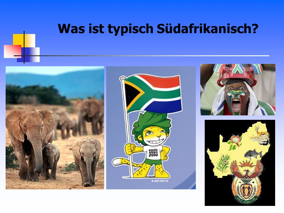 Was ist typisch Südafrikanisch