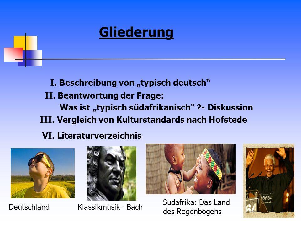 """Gliederung I. Beschreibung von """"typisch deutsch"""