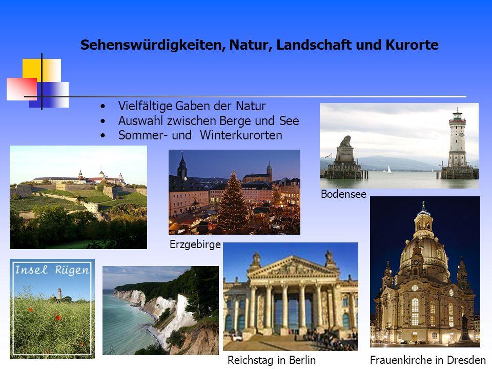 Sehenswürdigkeiten, Natur, Landschaft und Kurorte