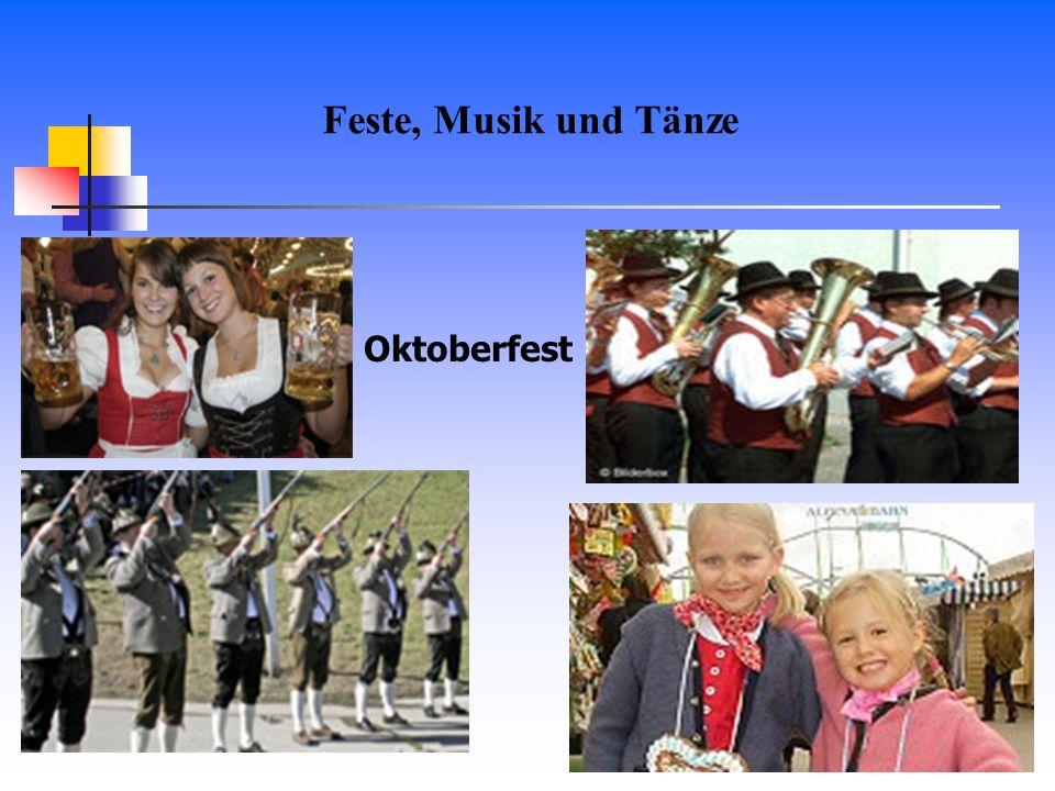 Feste, Musik und Tänze Oktoberfest
