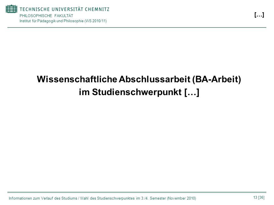 Wissenschaftliche Abschlussarbeit (BA-Arbeit)