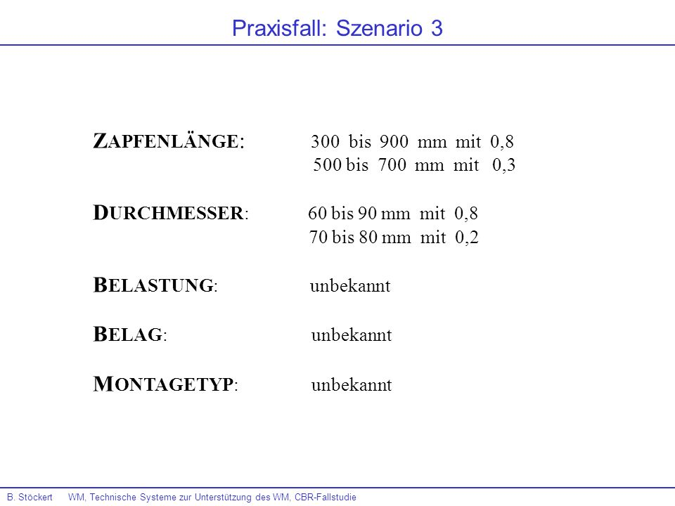 ZAPFENLÄNGE: 300 bis 900 mm mit 0,8