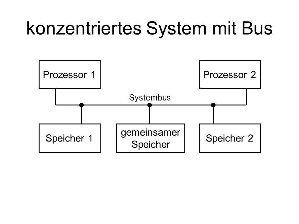 konzentriertes System mit Bus