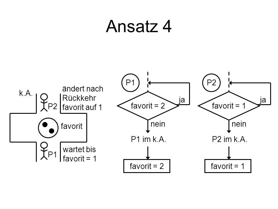 Ansatz 4 P1 P2 ändert nach Rückkehr favorit auf 1 k.A. favorit = 2