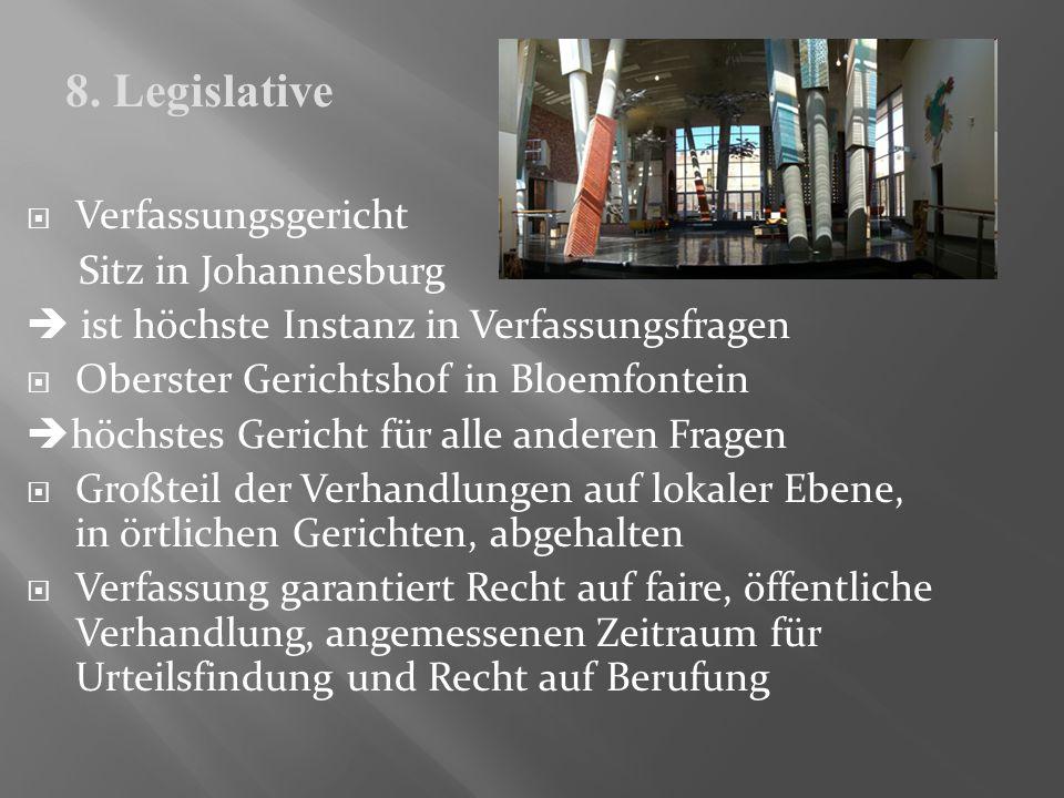 8. Legislative Verfassungsgericht Sitz in Johannesburg