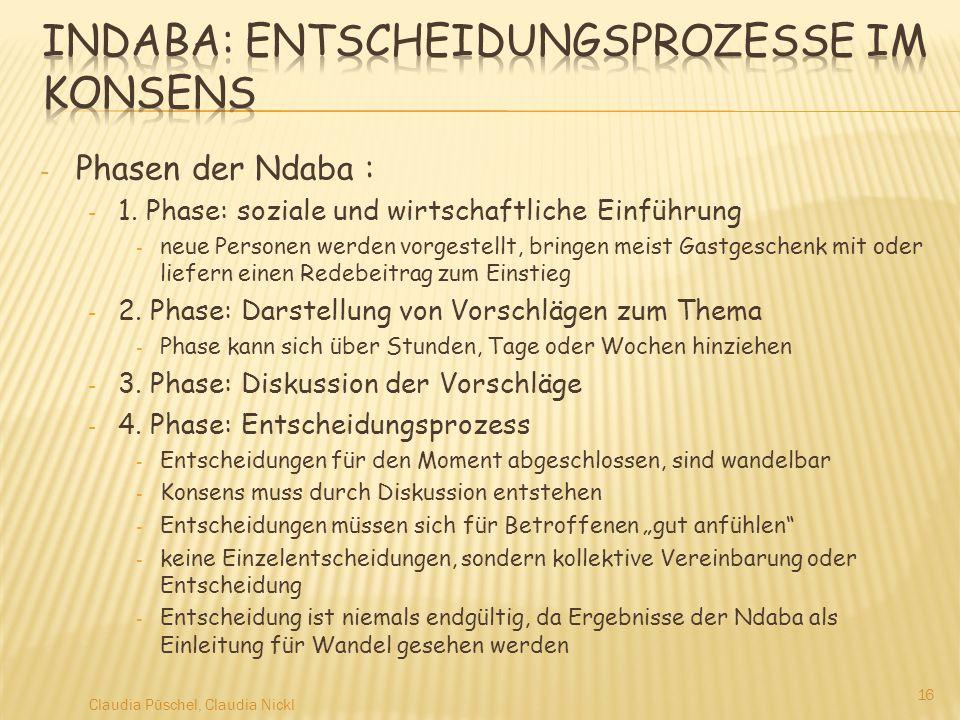 Indaba: Entscheidungsprozesse im Konsens
