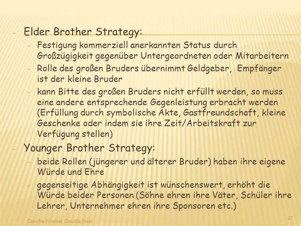 Elder Brother Strategy: