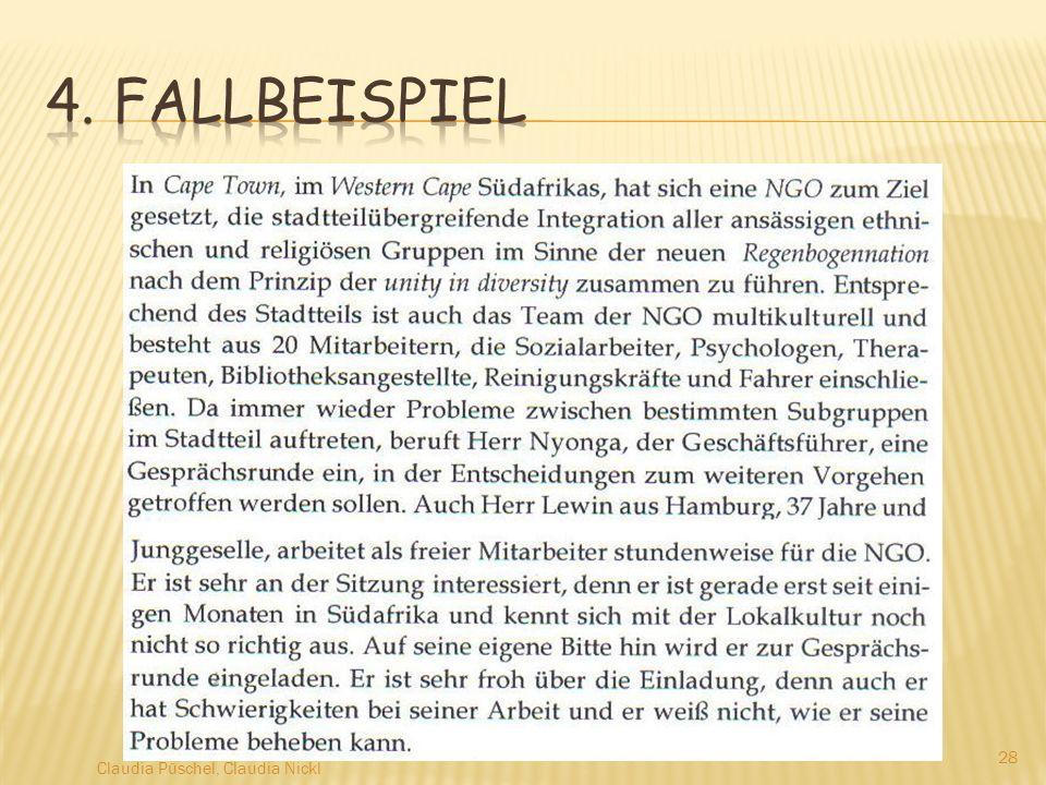4. Fallbeispiel Claudia Püschel, Claudia Nickl