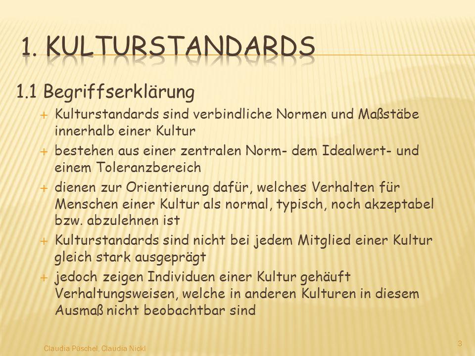 1. Kulturstandards 1.1 Begriffserklärung
