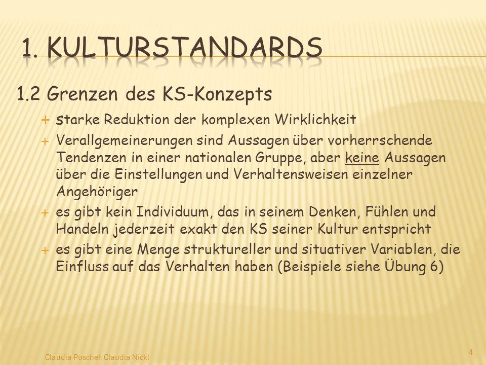 1. Kulturstandards 1.2 Grenzen des KS-Konzepts