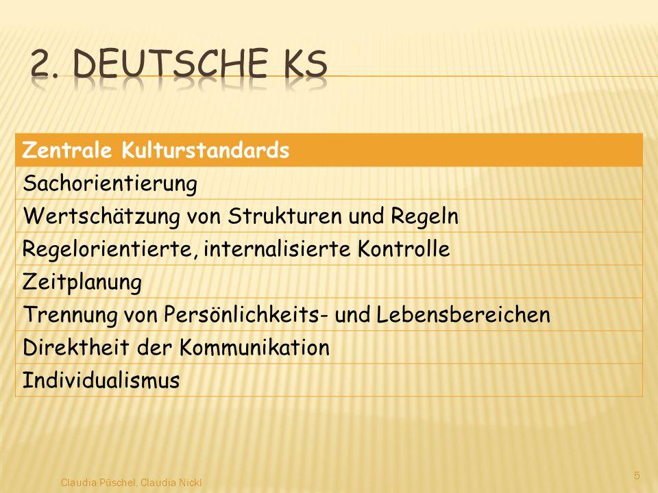 2. Deutsche KS Zentrale Kulturstandards Sachorientierung