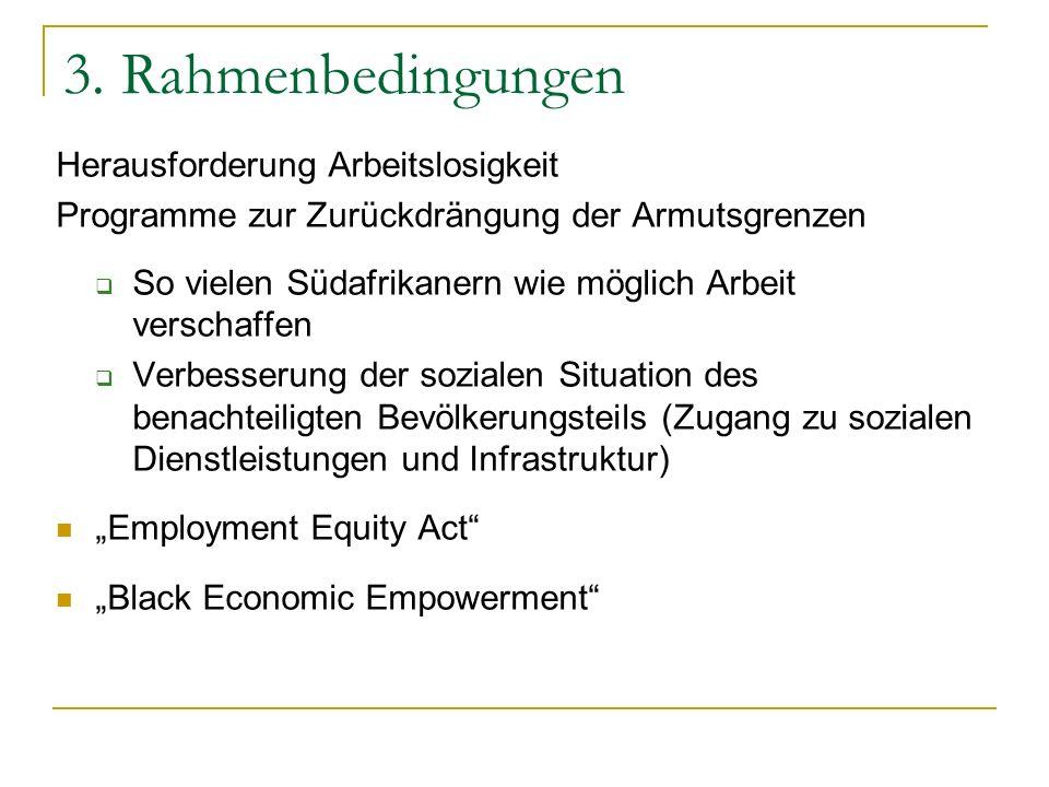 3. Rahmenbedingungen Herausforderung Arbeitslosigkeit