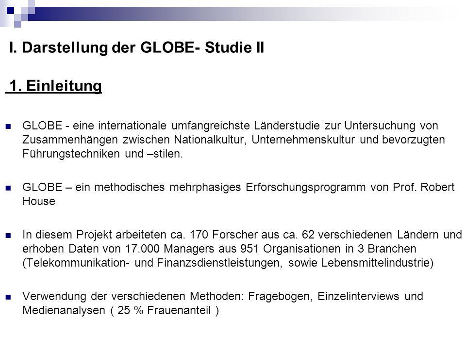 I. Darstellung der GLOBE- Studie II 1. Einleitung
