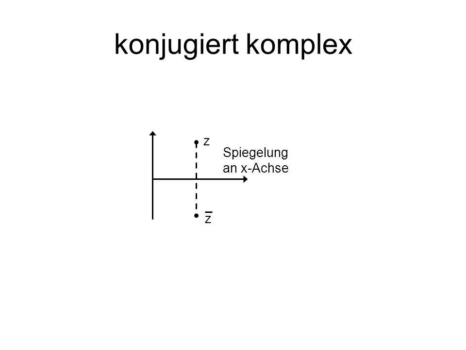 konjugiert komplex z Spiegelung an x-Achse z