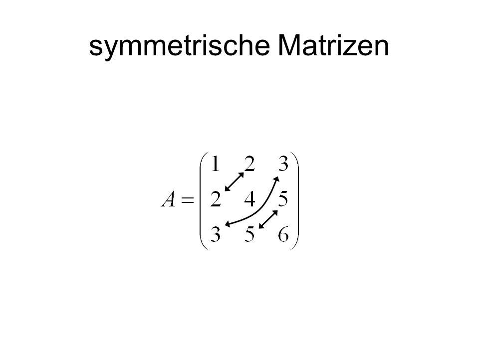 symmetrische Matrizen