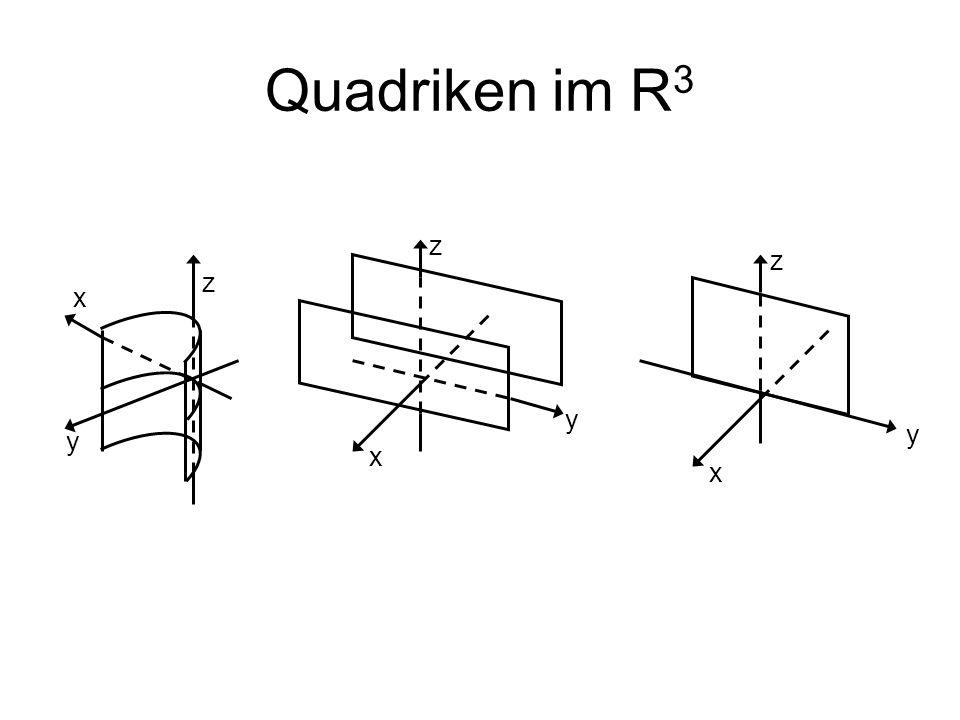 Quadriken im R3 z z z x y y y x x