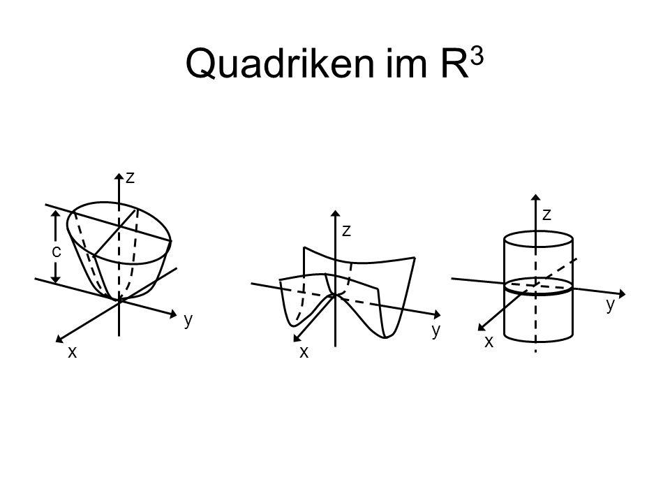 Quadriken im R3 z z z c y y y x x x
