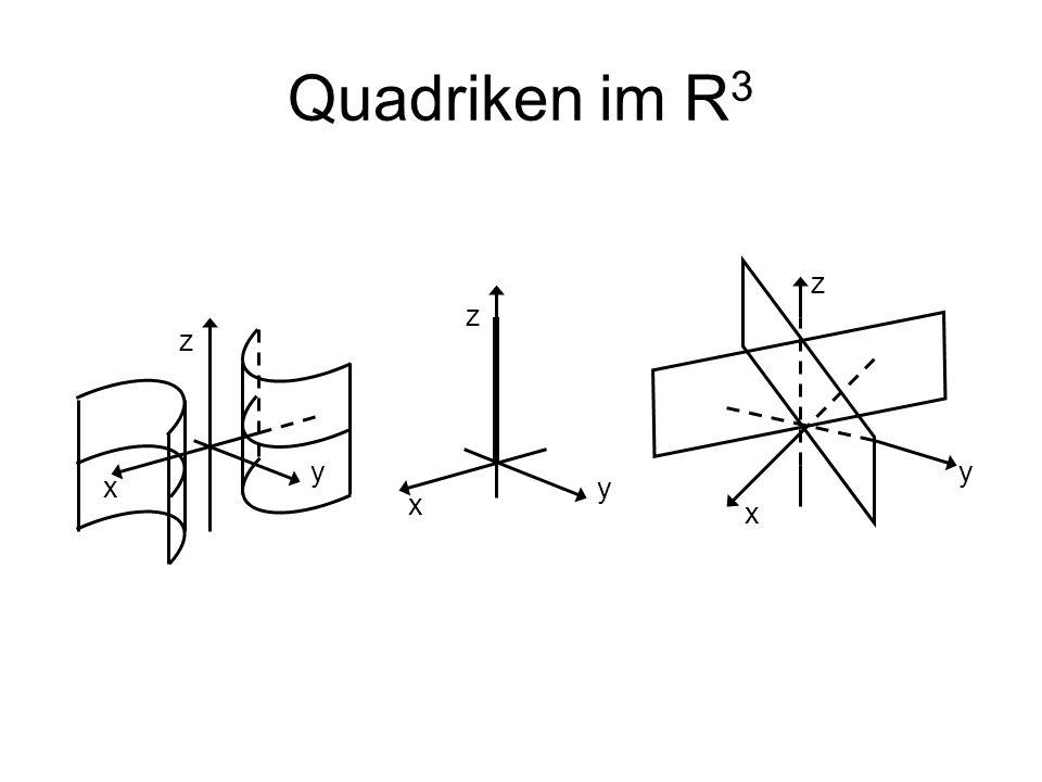 Quadriken im R3 z z z y y x y x x