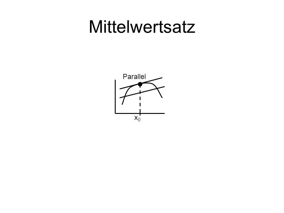 Mittelwertsatz Parallel x0