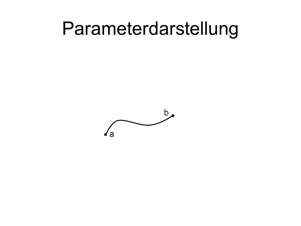 Parameterdarstellung