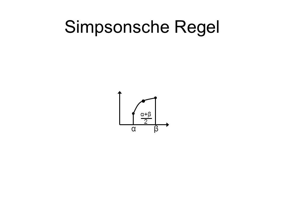 Simpsonsche Regel α+β 2 α β