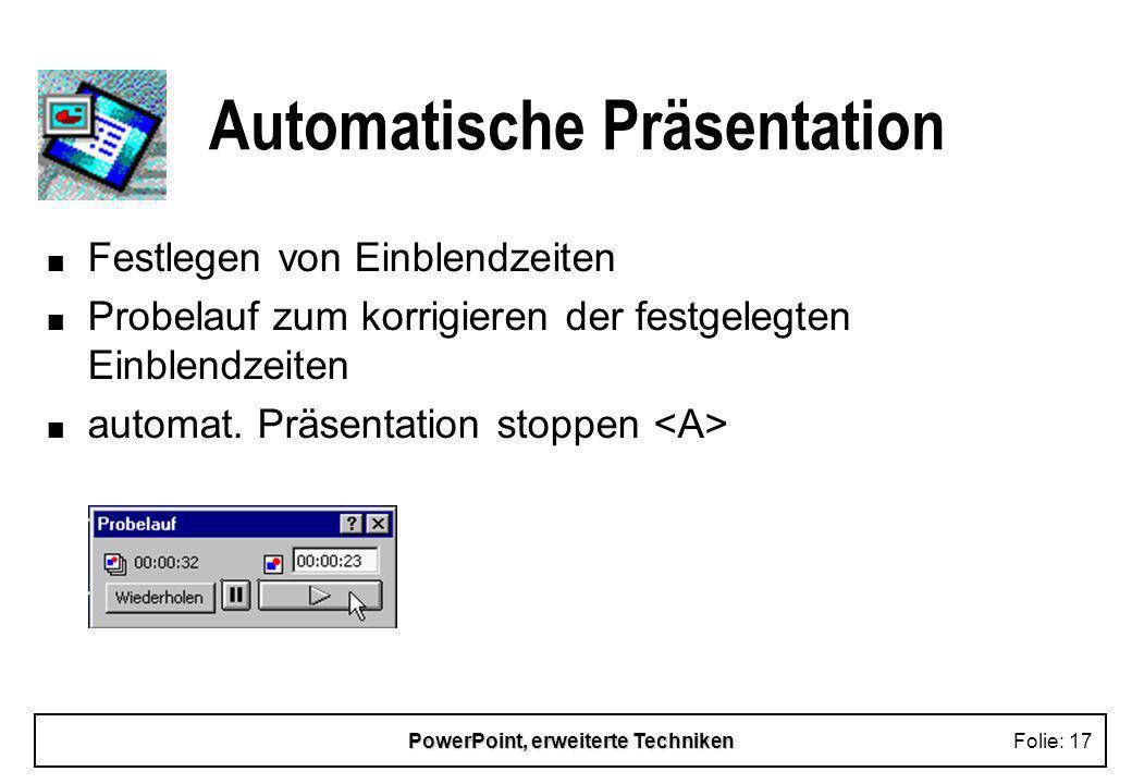 Automatische Präsentation