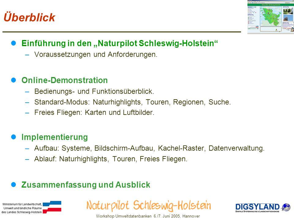 """Überblick Einführung in den """"Naturpilot Schleswig-Holstein"""