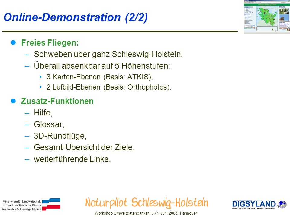Online-Demonstration (2/2)