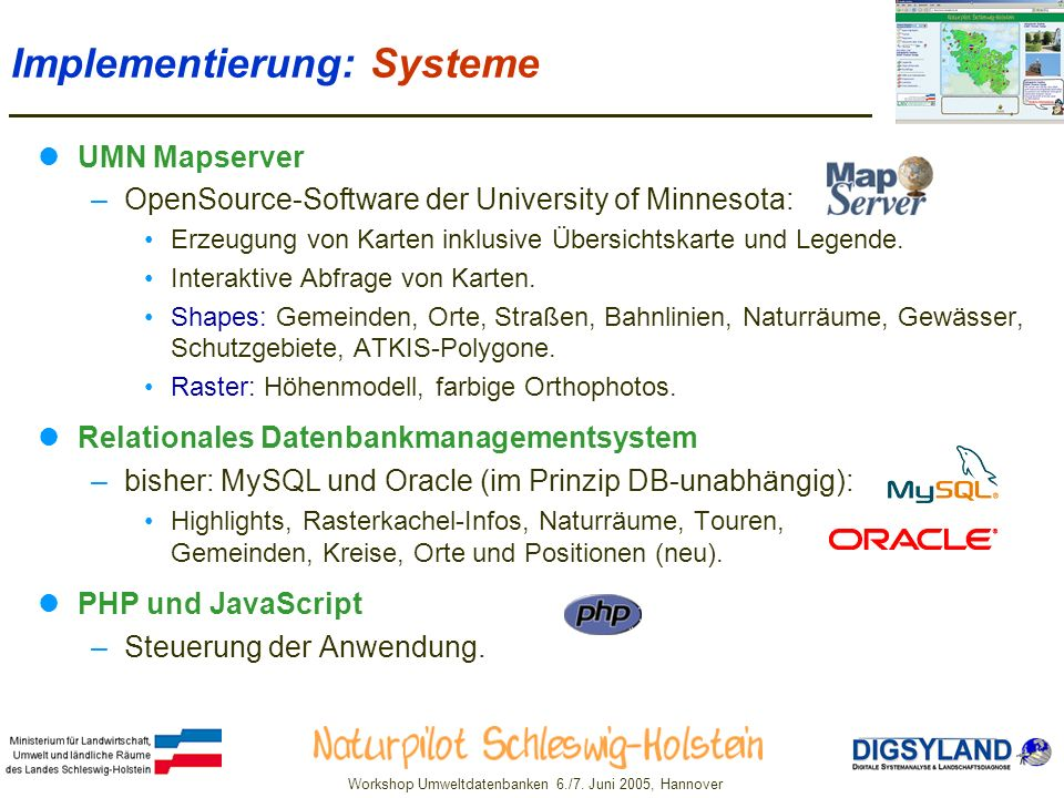Implementierung: Systeme