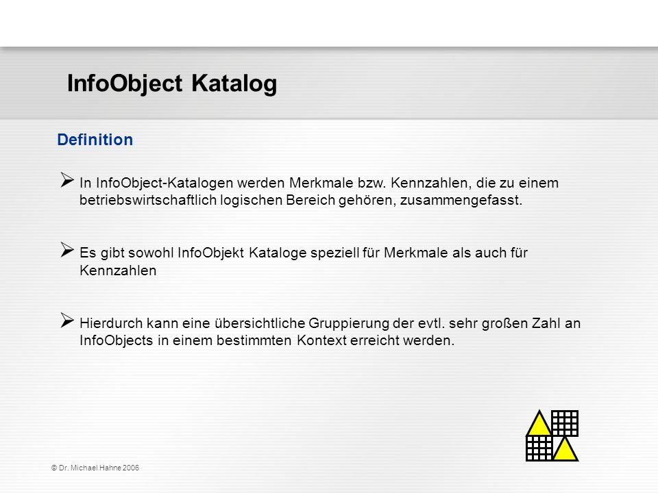 InfoObject Katalog Definition