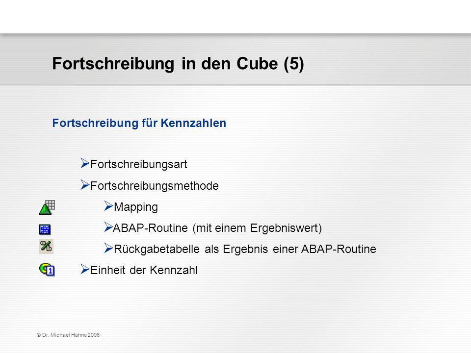 Fortschreibung in den Cube (5)