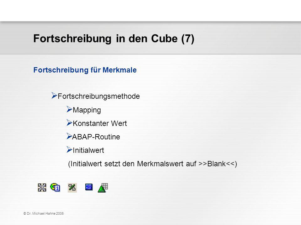 Fortschreibung in den Cube (7)