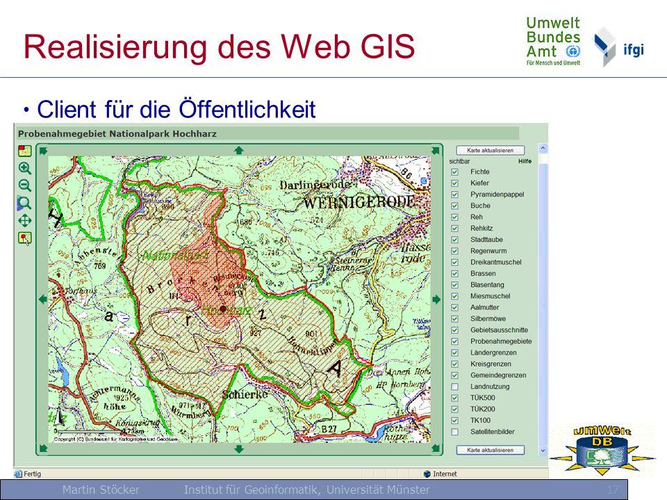 Realisierung des Web GIS