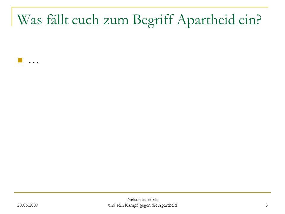 Was fällt euch zum Begriff Apartheid ein