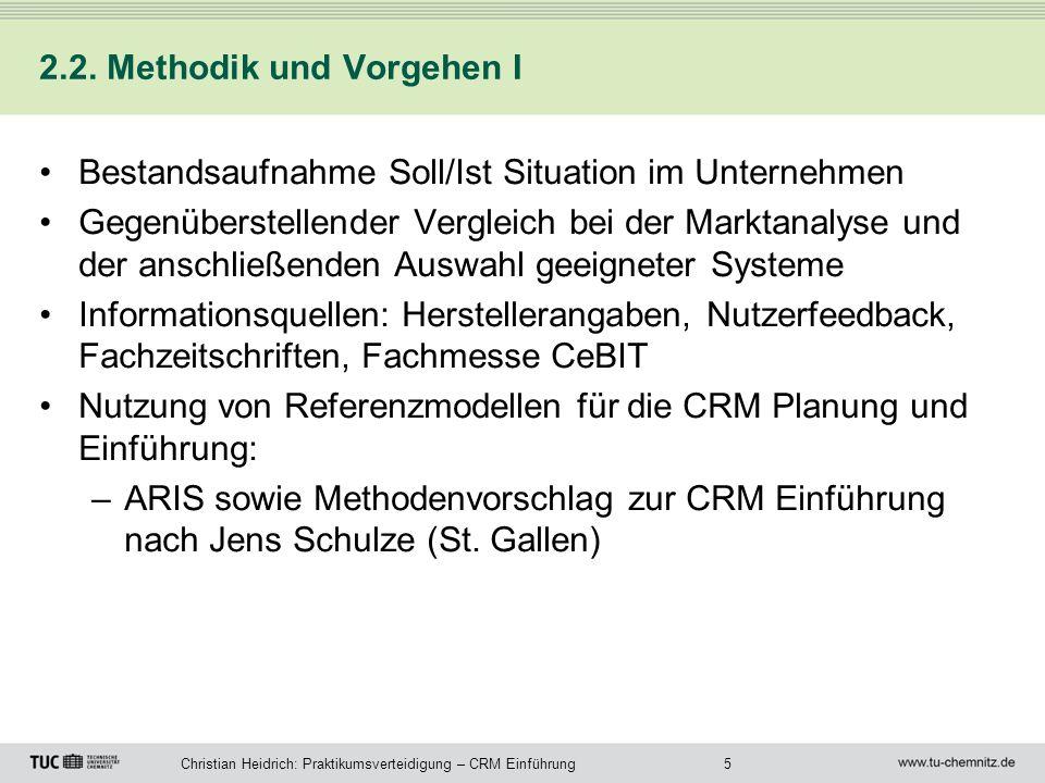 2.2. Methodik und Vorgehen I