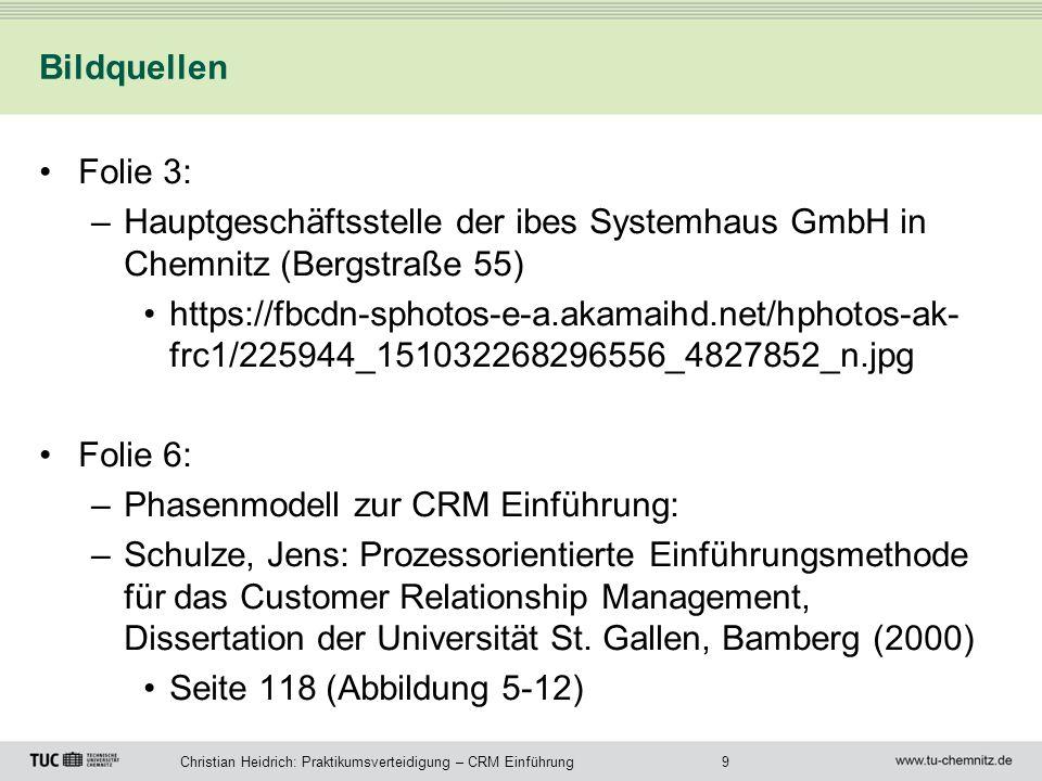 BildquellenFolie 3: Hauptgeschäftsstelle der ibes Systemhaus GmbH in Chemnitz (Bergstraße 55)