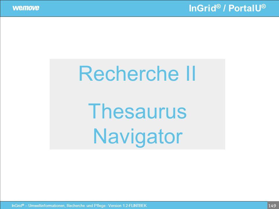 Recherche II Thesaurus Navigator