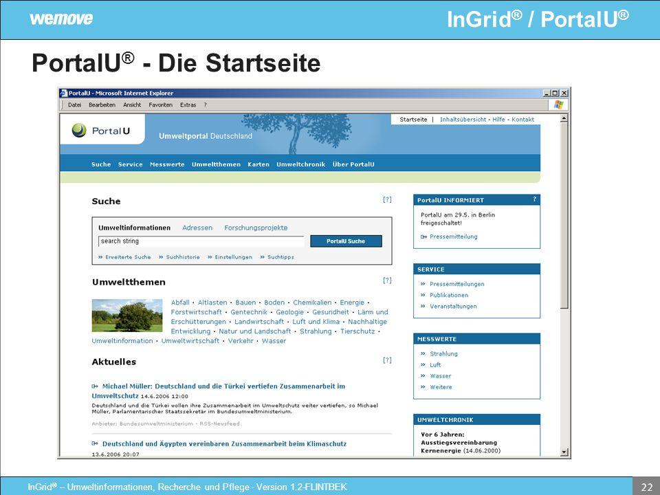 PortalU® - Die Startseite