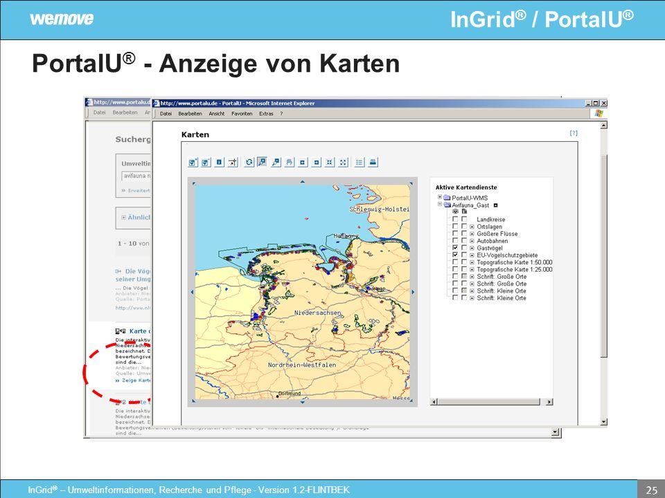 PortalU® - Anzeige von Karten