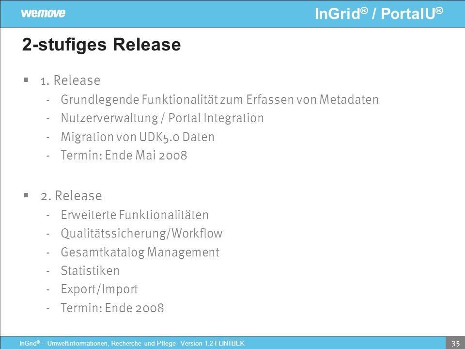 2-stufiges Release 1. Release 2. Release