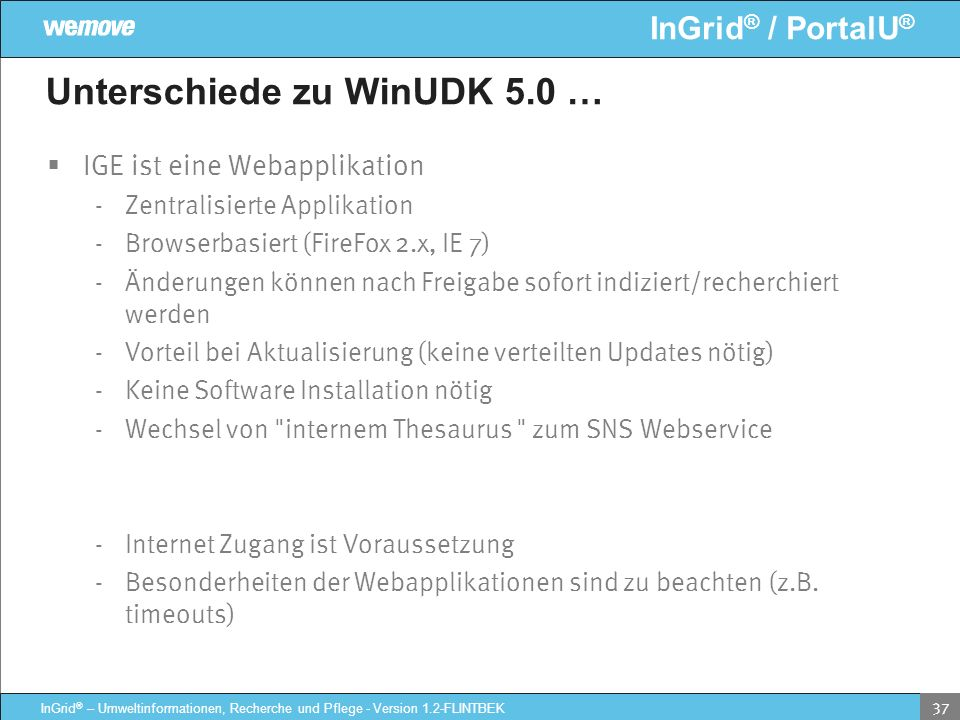 Unterschiede zu WinUDK 5.0 …
