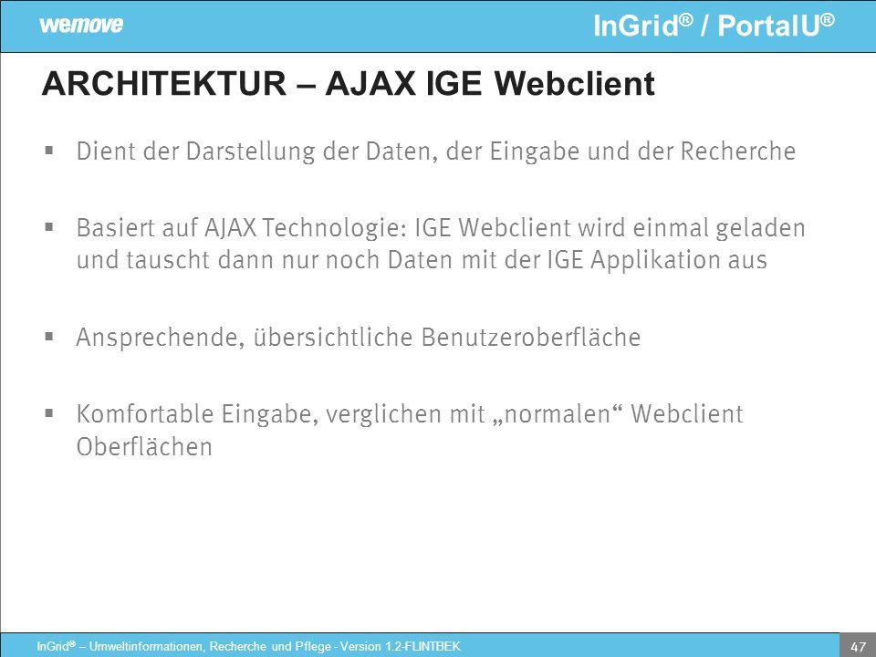 ARCHITEKTUR – AJAX IGE Webclient