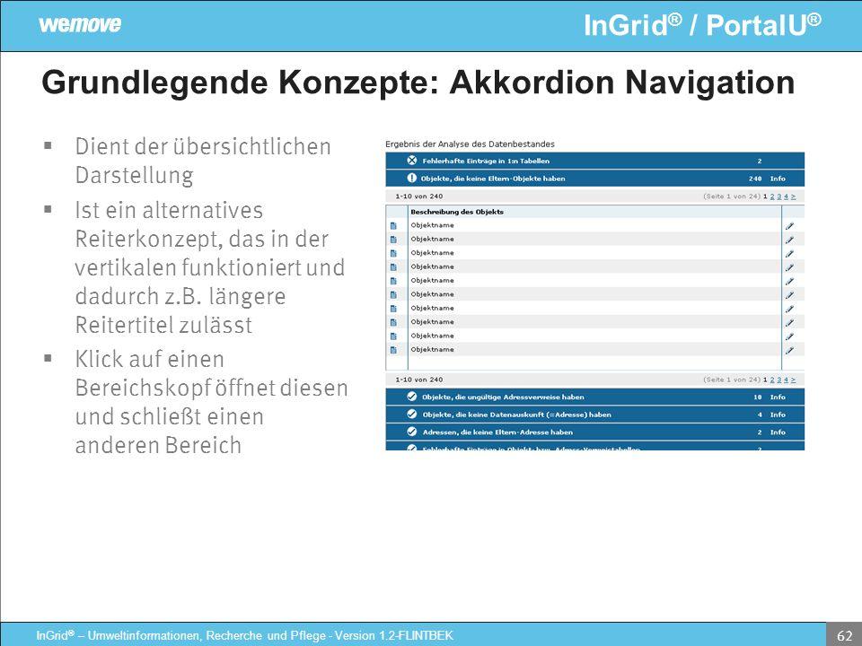 Grundlegende Konzepte: Akkordion Navigation