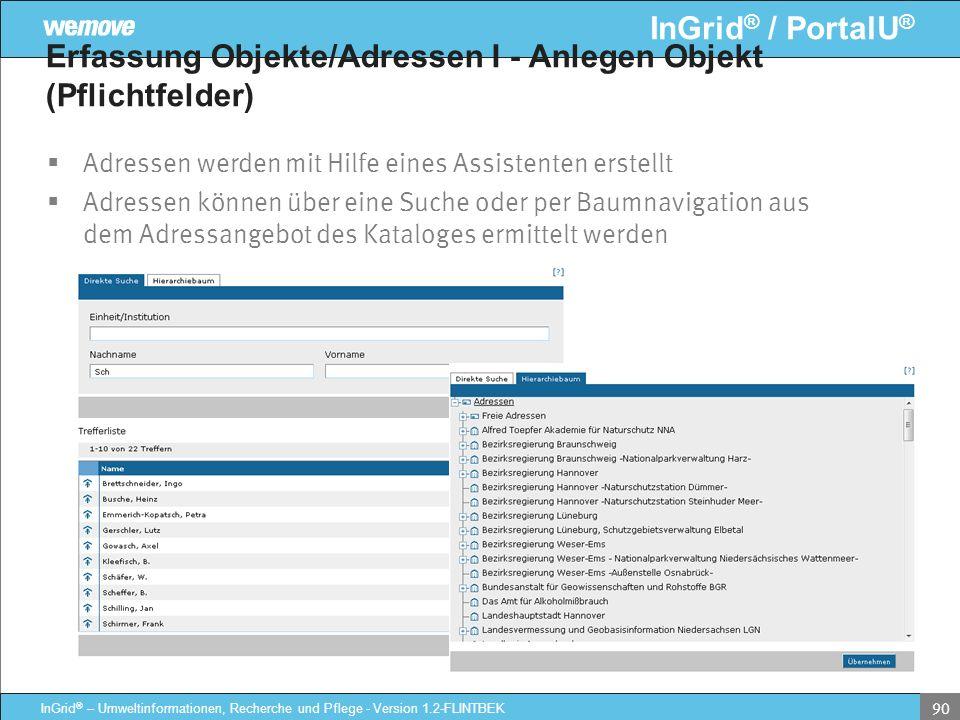 Erfassung Objekte/Adressen I - Anlegen Objekt (Pflichtfelder)