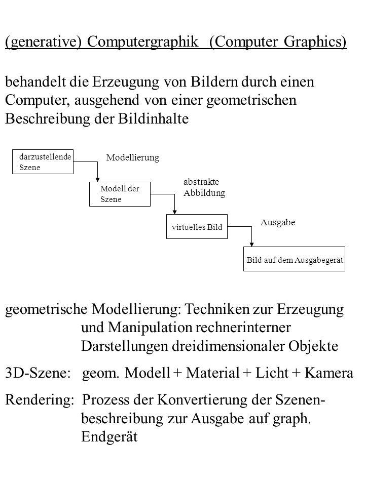 (generative) Computergraphik (Computer Graphics)