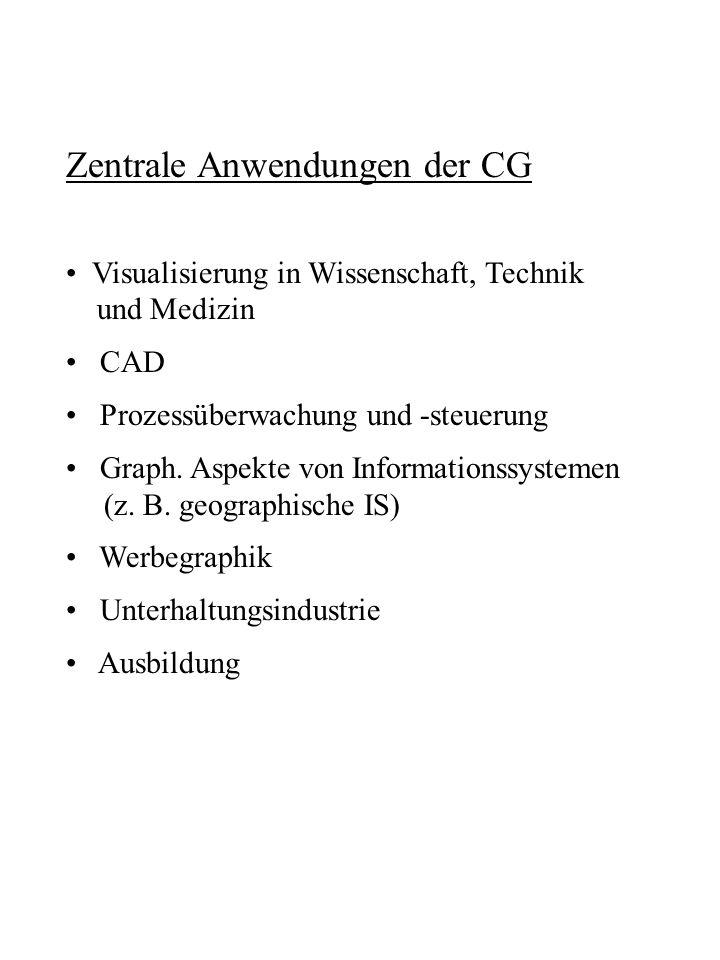 Zentrale Anwendungen der CG