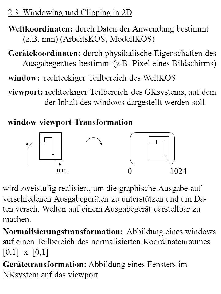 2.3. Windowing und Clipping in 2D