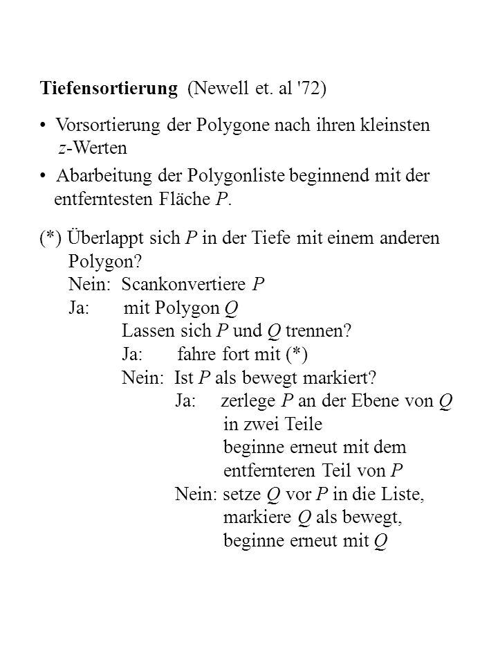 Tiefensortierung (Newell et. al 72)