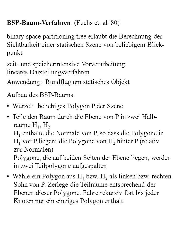 BSP-Baum-Verfahren (Fuchs et. al 80)