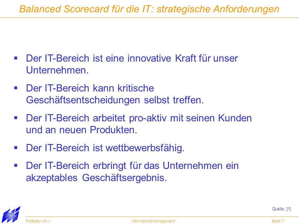 Balanced Scorecard für die IT: strategische Anforderungen